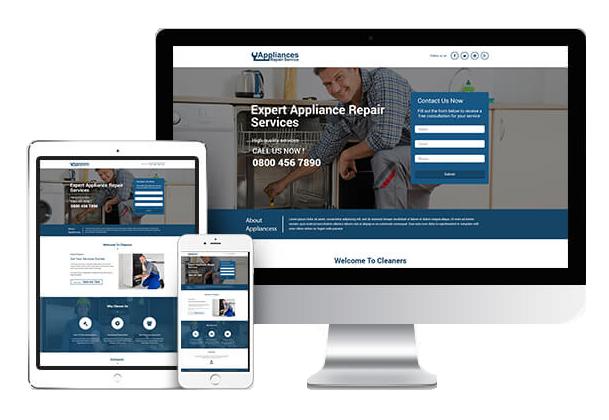 Expert Appliance Repair Services Website Design
