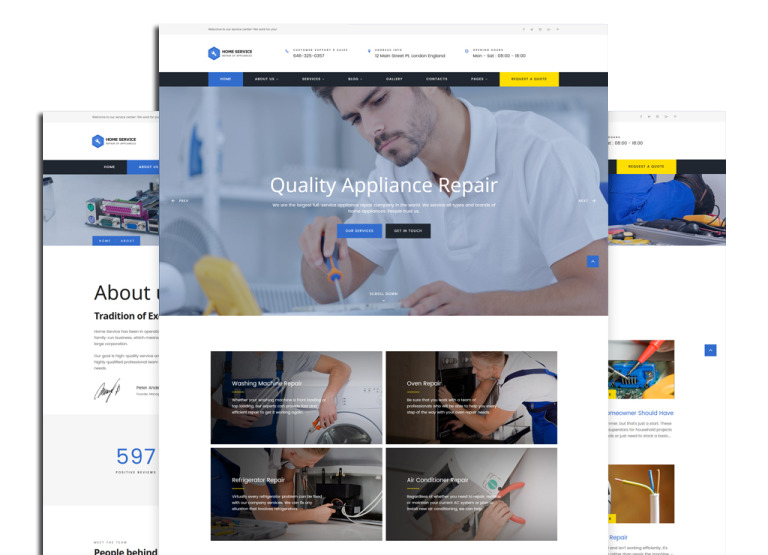 Quality Appliance Repair Website