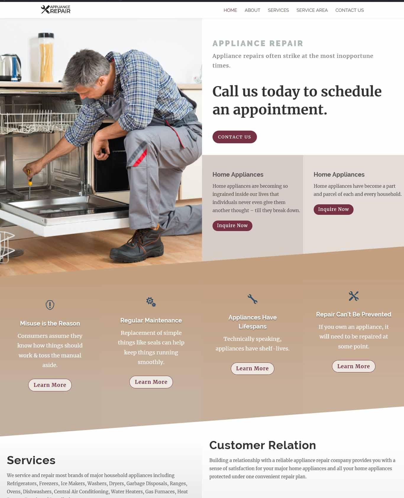 Prestige Appliance Repair Websites