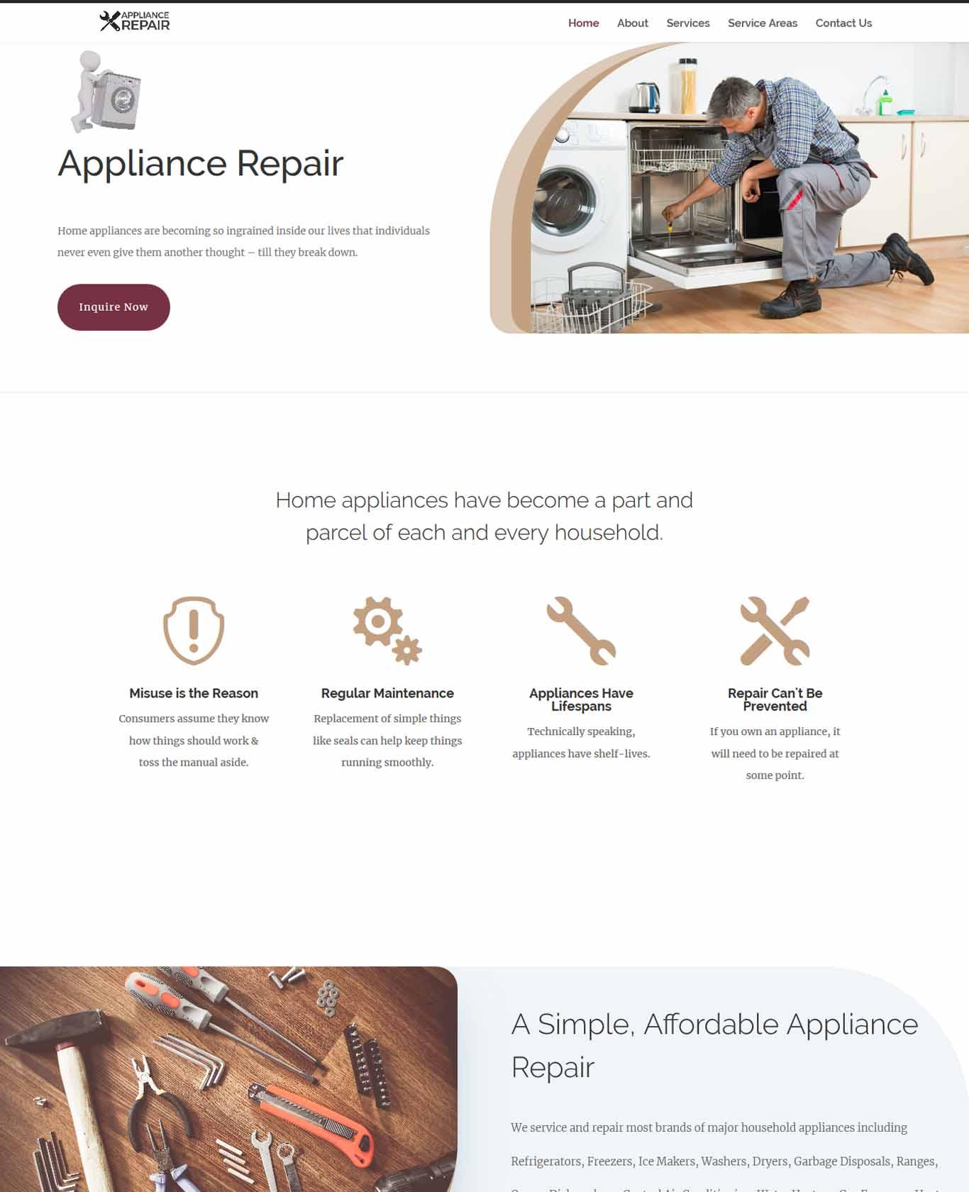 Service Appliance Repair Websites
